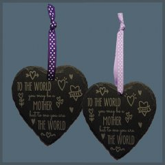 Slate Hanging Heart for Mothers